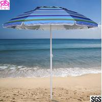 Buy cheap Steel Frame Outdoor Parasol Umbrella UV Protection For Sandy Beach Sunshade from wholesalers
