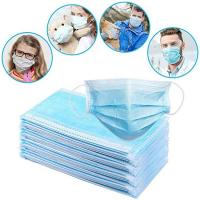 Quality Soft 3 Ply Disposable Mask / Non Woven Face Mask With Elastic Ear Loop for sale