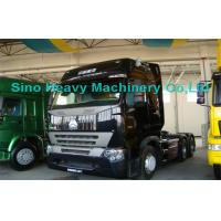 China 420HP HOWO A7 Prime Mover Truck Trailer , Diesel 6x4 Transport Trucks , Wild Black on sale