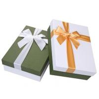 Buy cheap New design logo customized paperboard storage box for promotion gift with Ribbon from wholesalers