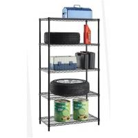 Buy cheap 5 Tiers Black Epoxy Coated Adjutable Steel NSF Wire Shelving for Sundries & Garage Storage from wholesalers