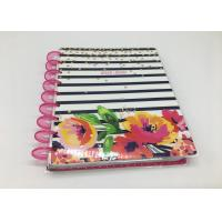 Buy cheap Custom Pink Spiral Daily Planner Notepad /  Colorful Printing Agenda Notepad from wholesalers