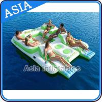 Buy cheap Capacity 6 Persons Inflatable Island Floating Lounge Inflatable Water Lounge from wholesalers