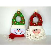 Buy cheap indoor santa claus head type christmas decoration wholesale 2016 unique christmas door hanger craft from wholesalers