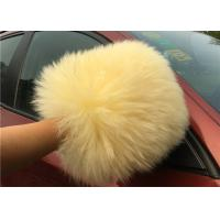 Buy cheap Sheepskin Car Wash Mitt Long Hair Real Australia Lambswool Car Cleaning Glove from wholesalers