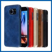 Buy cheap PU Leather Cell Phone Case Surface Coated Slim Full Access Samsung Galaxy S Case from wholesalers