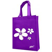 China Purple material white image printed non woven shopping bag_China Printing Factory on sale