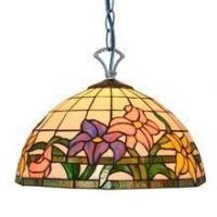 Buy cheap PL120003 flower glass stained modern tiffany pendant lamp from wholesalers