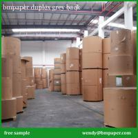 Buy cheap 250-450gsm Duplex Board Cheap Price / Duplex Board white back with Strong Kraft Paper from wholesalers