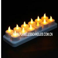 Buy cheap Home Decoration or Wedding Rechargeable LED Tea Lights / Flickering Rechargeable Candles from wholesalers