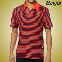 Buy cheap Black and Red Striped Polo T Shirts Short Sleeve Polo Shirts Custom Made from wholesalers