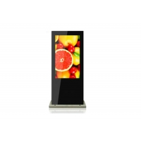 Buy cheap LCD Touch Screen Kiosk Big screen lcd advertising display with HD,VGA,BNC from wholesalers