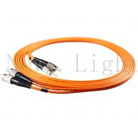 Buy cheap FC - FC Optical Fiber Patch Cord Multi Mode PVC / LSZH  0.9 / 2.0 / 3.0 Mm product