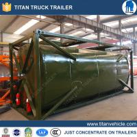 Buy cheap 24000 Liters cooking oil tank container , carbon steel semi trailer tanker from wholesalers