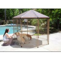 Buy cheap Black Color Large Dog Cage Outdoor Dog Kennel With Cover Easy Assemble from wholesalers