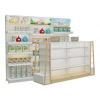 Buy cheap Supermarket and grocery display shelves natural design baby shop display stands with led advertising product