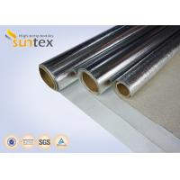 Buy cheap Fire-retardant Aluminized Glass Cloth Thermal Insulating Materials Of The Steam Heating Pipelines & Fire Suits from wholesalers