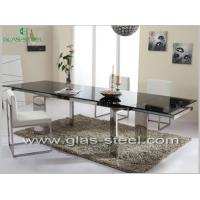 Buy cheap Stainless Steel Dining Table With Tempered Glass Top BT555 from wholesalers