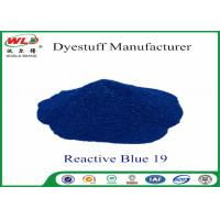 Buy cheap Environmental Friendly Dye Powder Reactive Brill Blue WRE C I Blue 19 100% Strength from wholesalers