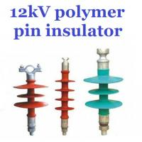 Buy cheap Overhead Line Polymer Pin Insulator , 12kV Silicone Rubber Insulator Creepage 380mm from Wholesalers