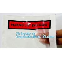 Buy cheap PP film 178*140mm invoice enclosed packing list envelopes, DHL Shipping pockets for waybill, A4 size plastic packing lis from wholesalers