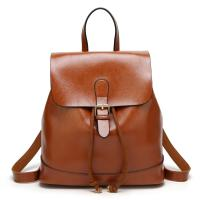 Buy cheap newest online leather women handbag fashion school backpack bag ladies smaller backpack from wholesalers