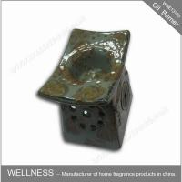 Retro Design Ceramic Essential Oil Burner Gray Color For Home Decoration
