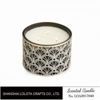 Buy cheap Non Toxic Scented Three Wick Candle In Special Flower Carving Pattern Bottle from wholesalers