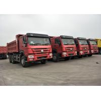 Buy cheap RED Color 371HP 10 Wheeler Dump Truck SINOTRUK HOWO With 12.00R20 Tire from wholesalers