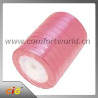 Buy cheap Multiple Color Garments Accessories Double / Single Face Satin Ribbon 100% Polyester product