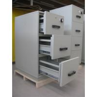 Buy cheap Grey Steel 4 Drawers Fire Resistant Filing Cabinets For Valuable Records / Documents from wholesalers