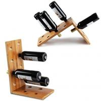 Buy cheap Antique Bamboo Wood Wine Display Rack Non - Toxic Tasteless Phthalate Free from wholesalers
