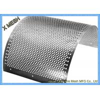 Buy cheap 2mm Stainless Steel Perforated Metal Mesh Sheet Round Hole Punched Openings from wholesalers
