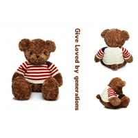 Buy cheap 15 Inch brown Stuffed Softest plush toys Gifts , Sweater brown stuffing teddy bears from wholesalers