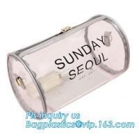 Buy cheap zipper bag promotional gift bag, square barrel thickened plastic storage bag factory wholesale, barrel pin clear small m from wholesalers