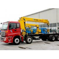 Buy cheap Durable 14 Ton Hydraulic System Truck Mounted Crane, 63 L/min Oil Flow from wholesalers