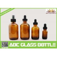 Buy cheap 4oz 2oz 1oz 1/2oz 120ml 60 ml 30ml 15ml Amber Boston Round Glass Bottle For Essential Oil Use from wholesalers