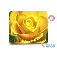 Buy cheap Custom Made Flat Personalized Fridge Magnets For Fridge Magnets Yellow Flower Print from wholesalers