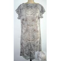 Buy cheap Straight Neck Georgette Print Silk Dresses For Adult Female S M L Custom Size from wholesalers