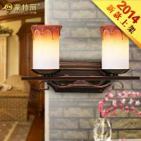 Buy cheap Unique European Bathroom Over Mirror Lights , Wrought Iron Mirror Front Decoration Wall Lamp from wholesalers