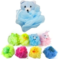 Buy cheap Bath Sponges, Small Size Colorful Shower Sponges Exfoliating Mesh Pouf Bath Ball Back Scrubber for Kids Pack of 8 product