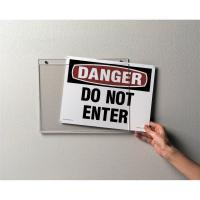 Buy cheap Hanging Acrylic Sign Holders , Acrylic Wall Standoff Sign Holder For Meeting Events from wholesalers