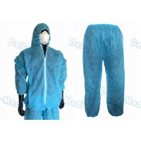 Buy cheap Waterproof Split Type Disposable Protective Coveralls Suit PP / SMS With Zip from wholesalers