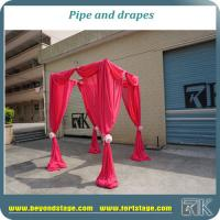 Buy cheap wholesale adjustable aluminum pipe support stands for event background backdrop poles from wholesalers