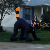 Buy cheap Black Inflatable Cat, Halloween Event Inflatable Cat Decoration,Inflatable Cat Costume from wholesalers