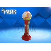 Buy cheap Red And Yellow Capsule Toy Vending Machine / Coin Operated Game Gumball Machine from wholesalers