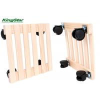 Buy cheap Poplar Wood Square Furniture Dolly , Small Moving Dolly With Roller 350x350mm from wholesalers