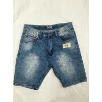 Buy cheap Anti Wrinkle Skinny Cargo Mens Short Pants Jeans Soft Cotton Spandex Fabric from wholesalers