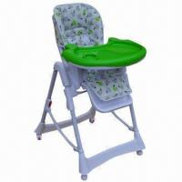 Buy cheap 5-position Height Adjustment Baby High Chair, One-hand Operating Tray from wholesalers