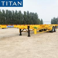 Buy cheap TITAN 40 feet Container Frame Skeleton Semi Trailer Chassis for Sale from wholesalers